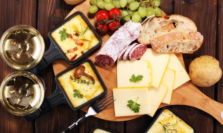 Raclette Pfännchen mit Käse